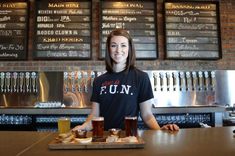 Bar bartender smile service customer driven